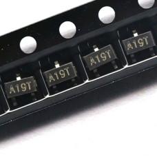 Транзистор AO3401A (A19T) полевой, P-канальный, 30V, 4 А, SOT-23