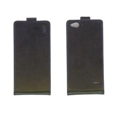 Чехол флип-кейс для ZTE Blade S6 искусственная кожа черный