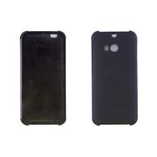 Чехол-книжка для HTC One M8 M8S/E8 искусственная кожа Dot View черный