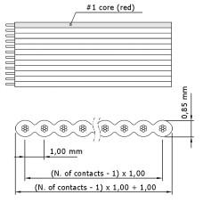 Кабель плоский RC-1-13-1070 универсальный 13pin, шаг 1 мм, длина 1070 мм, с разъемами, Б/У