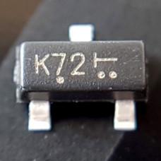 Транзистор 2N7002 (K72) полевой, N-канал, 60 В, 300 mA, SOT-23