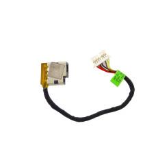 Разъем питания ноутбука 1.8х13.2 мм, 799736-T57 для HP 250G4, 255G4, 250G6, TPN-C126 с кабелем, Б/У