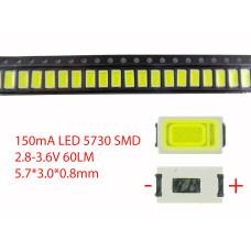 Светодиод SMD 5730, 2.8V, 150mA, 1W, 5000-7000K