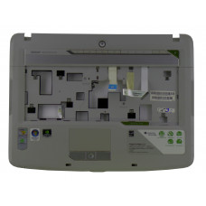 Верхняя часть корпуса AP01K000100K для ноутбука Acer Aspire 5520 серая, Б/У, Есть дефекты