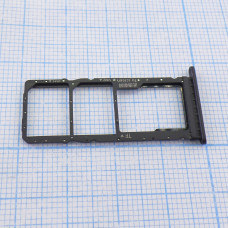 Лоток (держатель) для SIM-карты Huawei Honor Play 4T / Play 4T Pro, черный