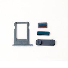 Комплект кнопок и лоток под SIM для смартфона Apple iPhone 5, черный