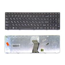 Клавиатура G570-US REV:RU для ноутбука Lenovo Z560, Z560A, Z565A, G570, Z570 черная, рамка черная (Original) Б/У