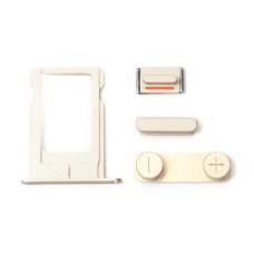 Комплект кнопок и лоток под SIM для смартфона Apple iPhone 5, золотой