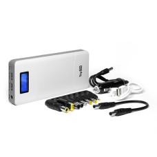 Внешняя батарея TopON TOP-T72/W 18000mAh, Quick Charge 2.0, одновременная зарядка трех устройств для зарядки ноутбука, планшета, смартфона и аккумулятора автомобиля, белая
