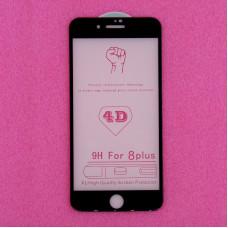 """Защитное стекло Apple iPhone 7/8 Plus, 5.5"""", 9H 4D, 1 мм, черное"""