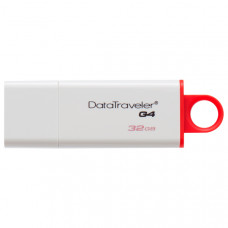 USB диск Kingston DTIG4/32GB 32Gb DataTraveler white, USB 3.0, R 40Mb/s, W 10Mb/s