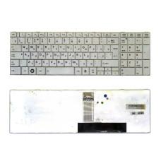 Клавиатура V130562BK1 REV:R1.0 RU для ноутбука Toshiba Satellite C850 [белая], Б/У