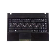 Верхняя часть корпуса BA81-14245A для ноутбука Samsung NP300V4A черная, Б/У, Есть дефекты
